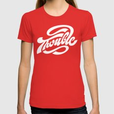 Trouble Womens Fitted Tee Red MEDIUM