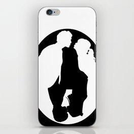 Pushing Daisies silhouette kiss iPhone Skin
