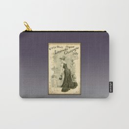 Kitty Pearl's Elegant Lavender Champagne Jelly Carry-All Pouch