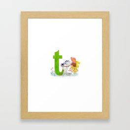 t is for teacup Framed Art Print