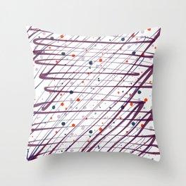 Maroon Splatter Pattern Throw Pillow