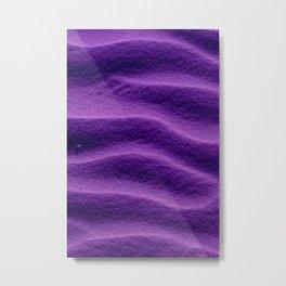Sand_Ripples - Purple Metal Print
