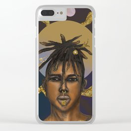 Afrocosmos II Clear iPhone Case