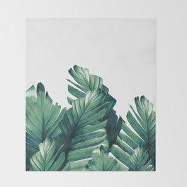 Green Banana Leaves Dream #1 #tropical #decor #art #society6 Throw Blanket