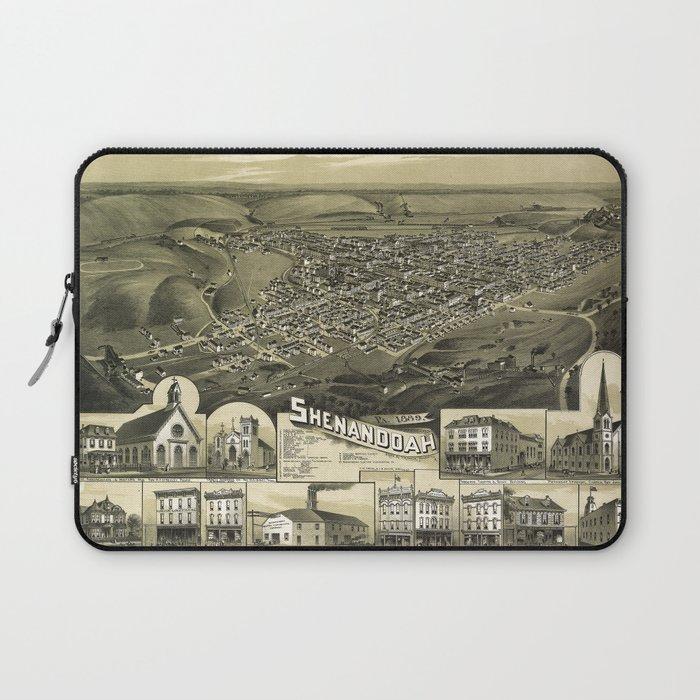 Aerial View of Shenandoah, Pennsylvania (1889) Laptop Sleeve