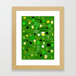 St Patrick's Day Collage Framed Art Print