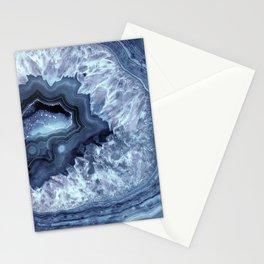 Steely Blue Quartz Crystal Stationery Cards