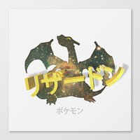 charizard Canvas Prints featuring Charizard by Thomas Official