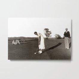 Antique Photograph, 1920s Golf Metal Print
