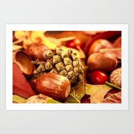 Arbores autumnales effectu Art Print