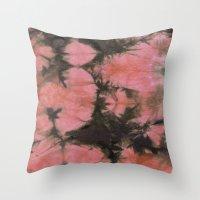 splatter Throw Pillows featuring Splatter by SarahKdesigns
