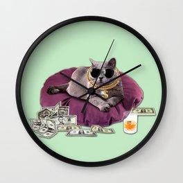 GANGSTA CAT Wall Clock