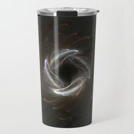 Metallic Swirl Fractal Travel Mug