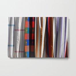Cloth Hammocks in Otavalo Metal Print