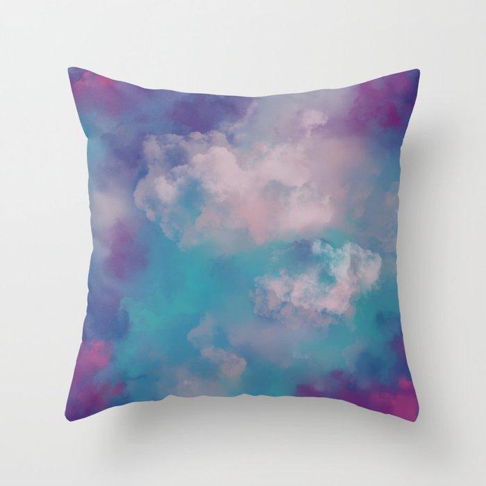 Smoke bomb- abstract digital art Throw Pillow