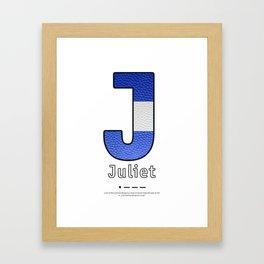 Juliet - Navy Code Framed Art Print