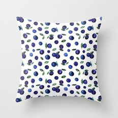 Blueberries Throw Pillow