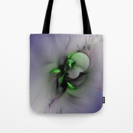 Abstract in Black and Green Tote Bag