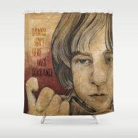 tony stark Shower Curtains featuring Tony by Colunga-Art