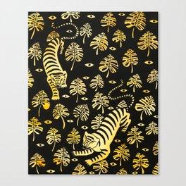 Tiger jungle animal pattern Canvas Print