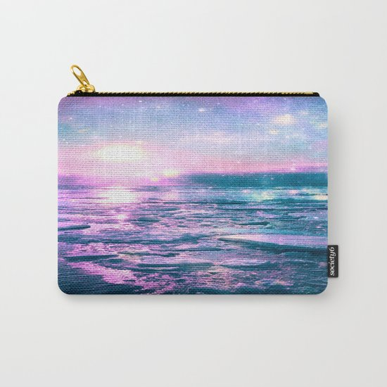 Mystic Waters Vibrant Pink Blue Lavender Carry-All Pouch