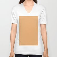 fawn V-neck T-shirts featuring Fawn by List of colors