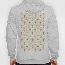 Gold and white art-deco geometric pattern Hoody