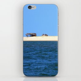Strip of sand sea and sky iPhone Skin