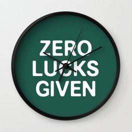 Zero Luck Given Wall Clock