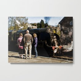 The Train Now Standing Metal Print