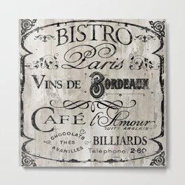 Paris Bistro VII Metal Print