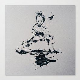 Splaaash Series - Lan Lan Ink Canvas Print