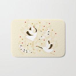 Origami Crane Metamorphosis (Cream) Bath Mat