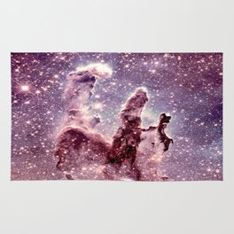Pillars of Creation Mauve Dark Periwinkle Rug