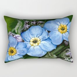 Do not forget me - azorean flora Rectangular Pillow
