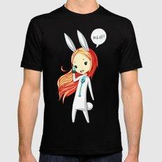 Bunny Girl 2 MEDIUM Mens Fitted Tee Black