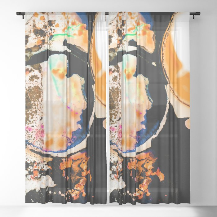 Ecstasy Dream No.27n by Kathy Morton Stanion Sheer Curtain