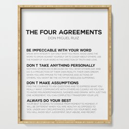 the four agreements Serving Tray
