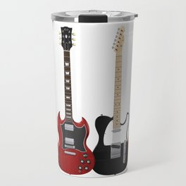 Four Electric Guitars Travel Mug