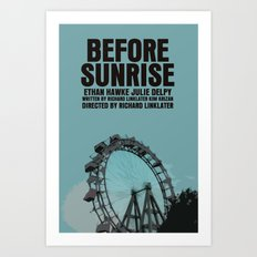 Before Sunrise Movie Poster Art Print