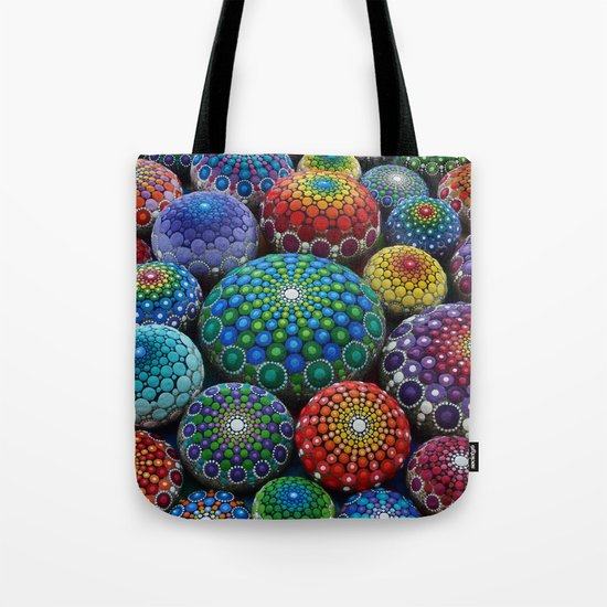 Jewel Drop Mandala Stone Collection #1 Tote Bag
