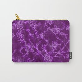 Flower Pattern (Purple version) Carry-All Pouch