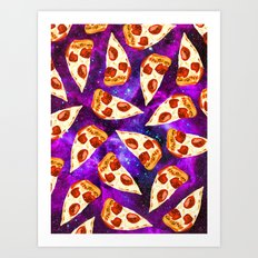 Pizza in Space Art Print