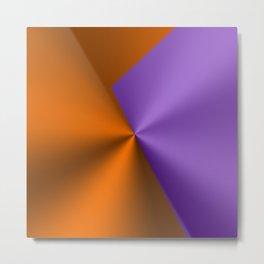 Purple & Orange Metallic Geometric Design Metal Print