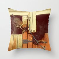 breakfast Throw Pillows featuring Breakfast by Armine Nersisian