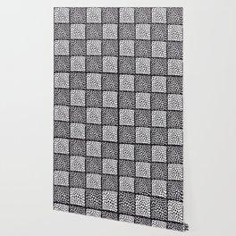 Dot Pattern (Black and White) Wallpaper
