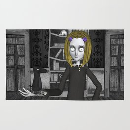 Lenore And The Raven Nevermore Rug