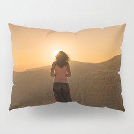 Sunset over mountains Pillow Sham