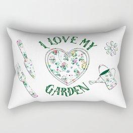 I Love My Garden Rectangular Pillow