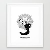 astronomy Framed Art Prints featuring Astronomy by Verdant Winter